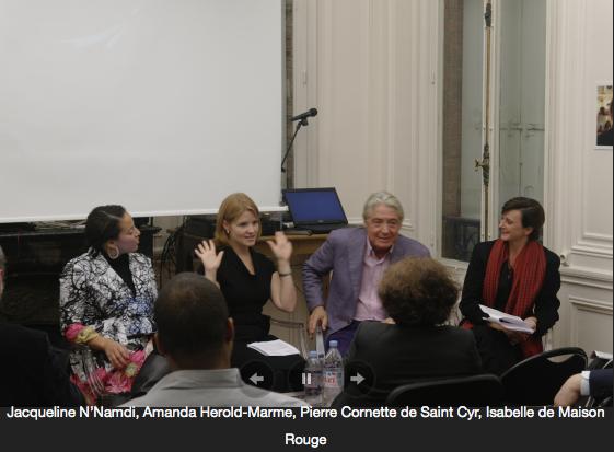 Jacqueline Cofield speaking on NYU Paris panel